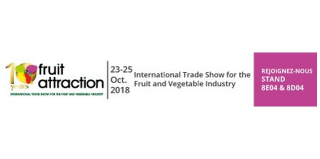 VISIT US STAND 8E04 & 8D04 IN FRUIT ATTRACTION 2018 IN MADRID OCTOBER 23-25TH 2018