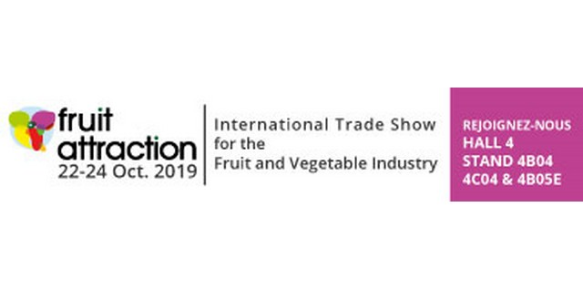 VISIT US STAND 4B04 & 4C04 HALL 4 IN FRUIT ATTRACTION 2019 IN MADRID OCTOBER 22-24TH 2019