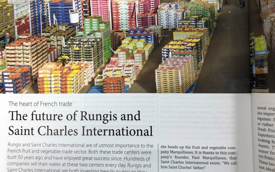 "Article FRESHPLAZA ""THE FUTURE OF RUNGIS & SAINT-CHARLES INTERNATIONAL"""
