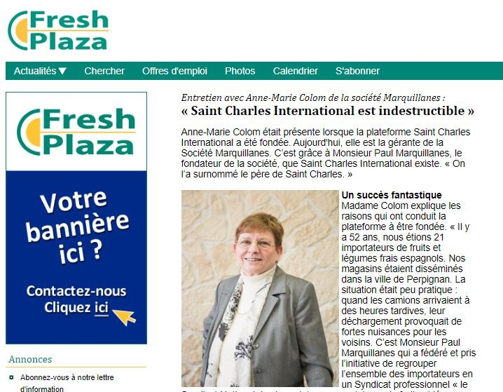 Interview Anne-Marie COLOM dans FreshPlaza